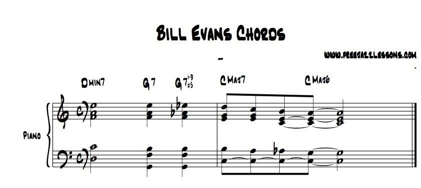 Bill Evans Jazz Chord Lesson and Video
