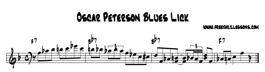 oscar peterson blues lick