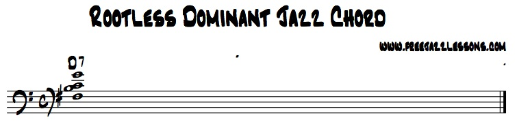 jazz chord rootless dominant
