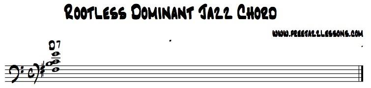 jazz chord rootless dominant