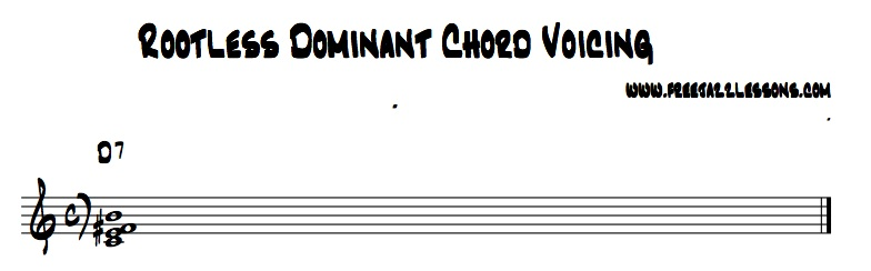 jazz chords dominant rootless
