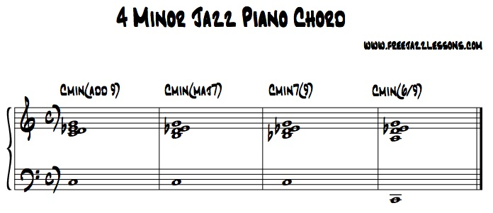 4 Different Way To Play Minor Jazz Piano Chords : Free Jazz Lessons