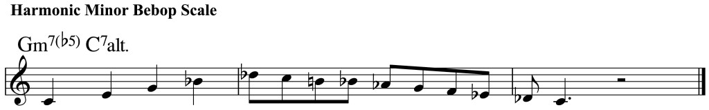 Harmonic Minor Bebop