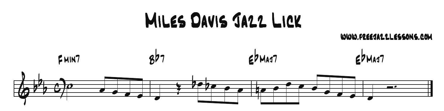 Miles Davis Jazz Improvisation Lick