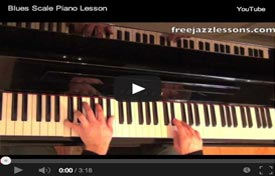 blues scale piano