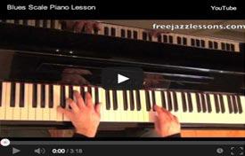 blues scale piano