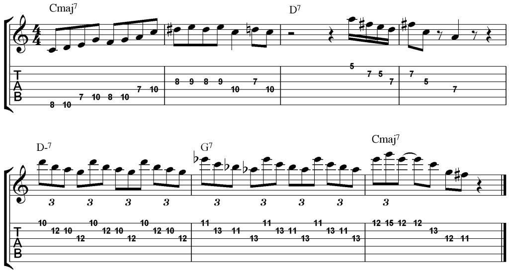 jazz improvisation etude